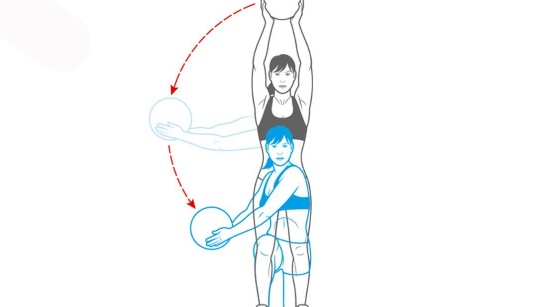 Workout Nr. 1: Ausfallschritt mit Rotation