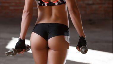 Workout für den Knackpo