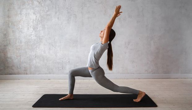 Yoga Pose High Lunge