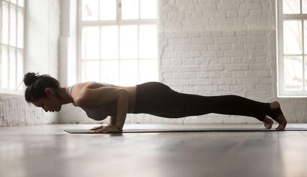 Yoga Pose Stockhaltung