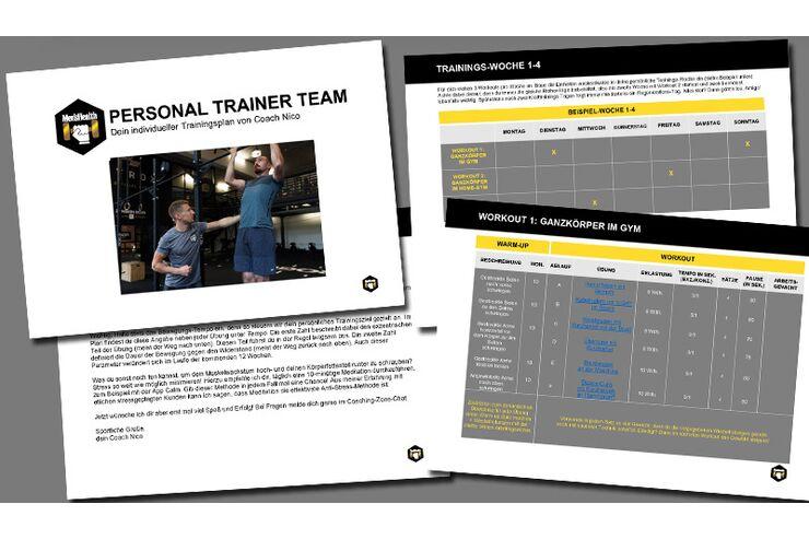 So sieht's aus: ein Beispiel-Plan unseres Coaches Nico